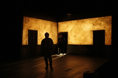 Intiman Theatre: Crime and Punishment, transluscent plaster! Cary Wong designer