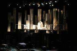 Intiman Theatre: A Thousand Clowns, office/city scape day. Nayna Ramey designer