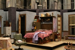 Intiman Theatre: A Thousand Clowns, appartment set, detail. Nayna Ramey designer