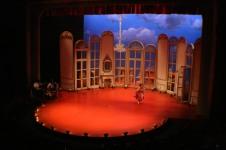 Intiman Theatre: A Doctor in Spite of Himself, full set. Narelle Sissons designer