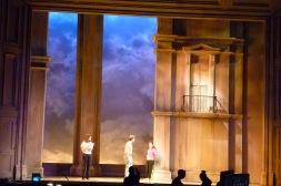 5th Avenue Theatre: A Room with a View; Sky backdrop in situ; Walt Spangler designer
