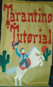 Tarantino Tutorial felt podium banner